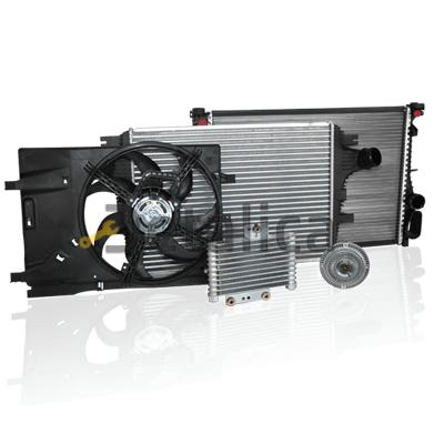 Радиатор основной б/у Chevrolet Aveo I (T200/T250) Шевроле Авео T200 / T250 с доставкой в Москву