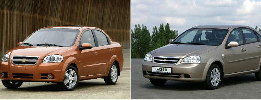 Сравнение Chevrolet Aveo и Chevrolet Lacetti по характеристикам, стоимости покупки и обслуживания. Что лучше - Chevrolet Aveo или Chevrolet Lacetti