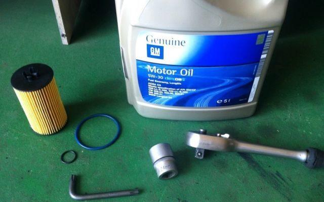 Замена масла и масляного фильтра Сhevrolet Aveo T300 в картинках