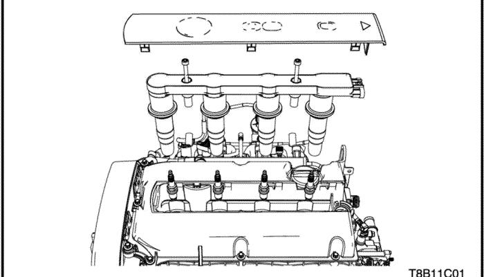 Руководство по техническому обслуживанию2009 Aveo Механическая часть двигателя - 1.4 DOHC (два распределительных вала с верхним расположением) - G14D