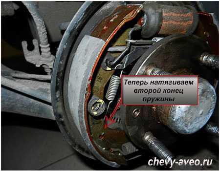 Замена задних колодок на шевроле авео - Авто-ремонт
