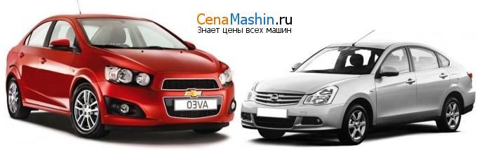 Сравнение автомобилей седан Nissan Almera G15 и седан Chevrolet Aveo T300